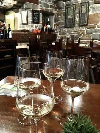 スロベニアの代表的な白ワインの辛口レブラで乾杯