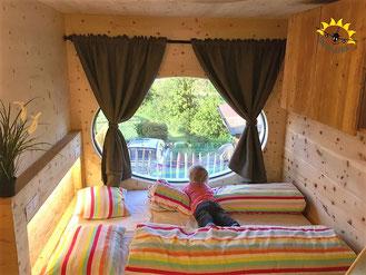 Schlafen wie in der Sauna im Zinipi.