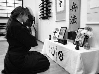 Floratcha im Dojo der Hokushin Ittō-Ryū Hyōhō in Muenchen