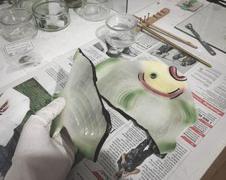 Kintsugi Fisch-Teller