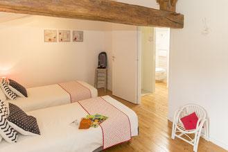 Chambre Sucre d'Orge du Gîte SO'délices en Vendée, chambre pour 2 personnes