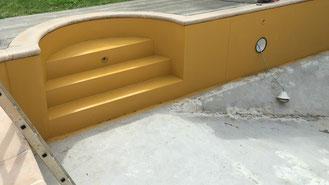 Rénovation piscine complète piscine en tôle, traitement anti rouille et pose de liner