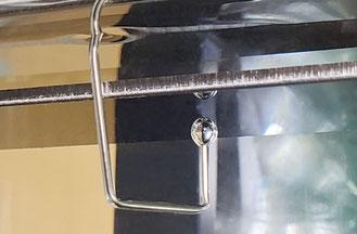 液中での気体の接触角測定事例