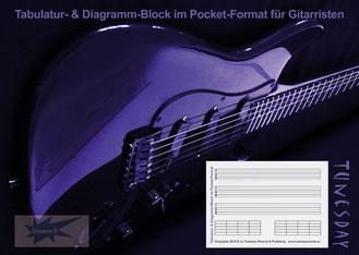 Tabulatur- & Diagramm-Block für Gitarristen im Pocket-Format