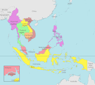 The Philippines is located southeast Asia and is a founding member of the Association of Southeast Asian Nations, or ASEAN. (map from https://aseanup.com/free-maps-asean-southeast-asia/)
