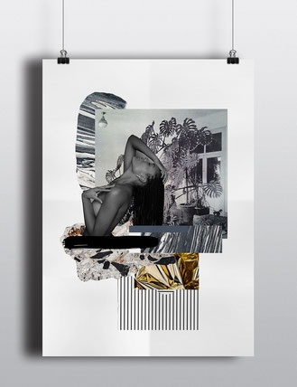 rosa rot magazine collages by Yael Anders