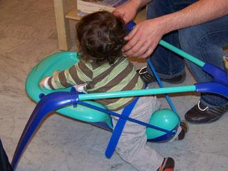 Oui, la balancelle c'est le nouveau jouet de mes parents !