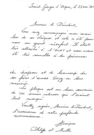 Lettre de remerciement de madame JEANJEAN aaalat-languedoc-roussillon.fr