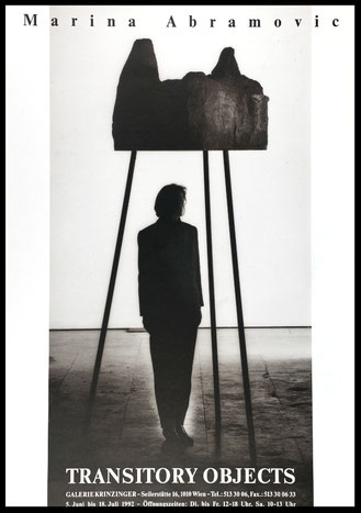 Marina Abramovic Poster Plakat / Affiche Transitory Objects1992.