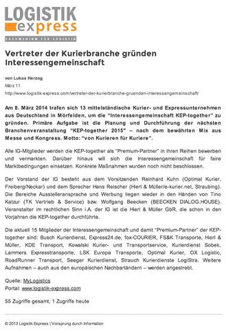 LOGISTIK express 11.03.2014