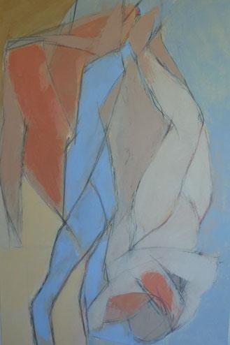 De pavot à pivot, il n'y a qu'un i / Huile sur toile 120 x 80