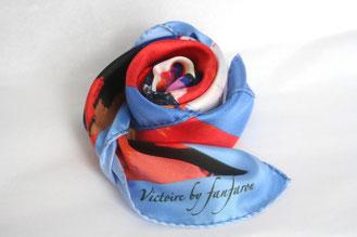 Foulard Victoire Julie d'Aragon Carré de Soie Made in France Fanfaron