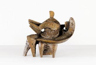 "Wander Bertoni, ""Idyll"", Entwurf: 1950, Bronze patiniert, 26,5 cm, Edition: Auflage 7"