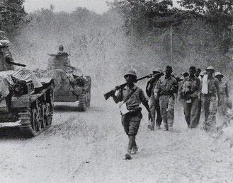 フィリピンに侵攻した日本軍