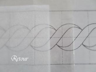 パッチワーク教室ルトゥール キルトラインの図案写し
