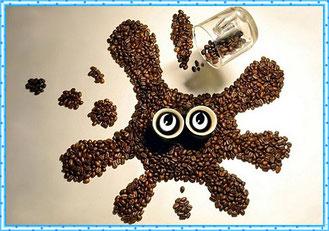 Кофейная картинка кляксы