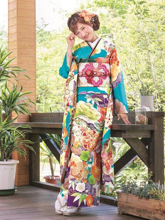 水色,kimono