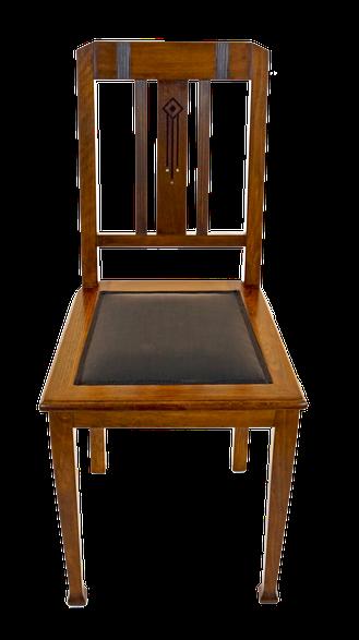 Stuhl Antiquitaeten Leder Restauration Schowalter