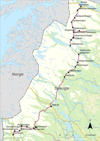 Kungsleden-Wanderweg Schweden (Quelle: Wikipedia)