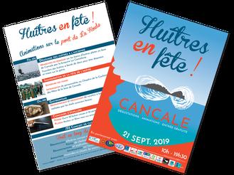 Flyer huîtres en fête Cancale