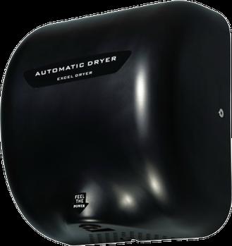 Secador de Manos Acero Inoxidable. Óptico Negro. Voltaje 110V. Velocidad de aire 90m/s. Tiempo de Secado de 7 a 16 segundos. Peso: 4.5 kg. Medidas: 295 X 171 X 325 mm