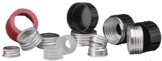 Aluminium Caps for standard type glass sample bottles with cap size 28 mm or 36 mm