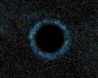 Illustration d'un trou noir tel qu'il existe réellement
