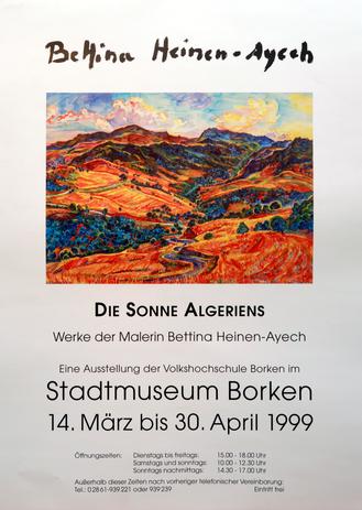 Ausstellungsplakat: Die Sonne Algeriens im Stadtmuseum Borken, 1999