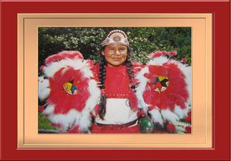 """""""Cherokeemädchen""""Photo by W.M. Cline Co. (Eigene Sammlung)"""
