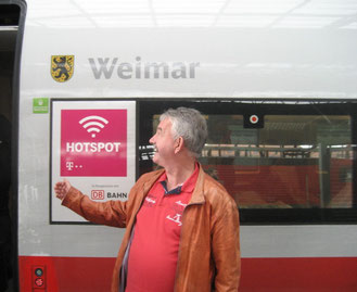Michael Kühn bei einer Dankeschön-Fahrt nach Weimar