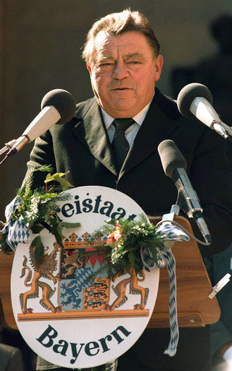 Bayerns daværende ministerpræsident Franz Josef Strauss
