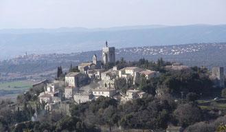 Clansayes, la vallée du Rhône et les contreforts Ardéchois.