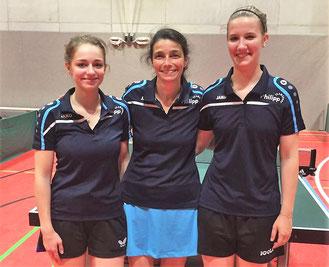 Die Damen II mit (v.l.) Leoni Reibothe, Kathrin Reinbothe und Anna Wehning feierten den zweiten Sieg im zweiten Spiel.