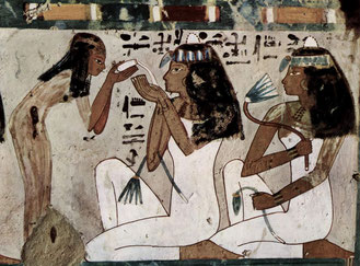 Ancient Egypt - white is connected with goddess Isis