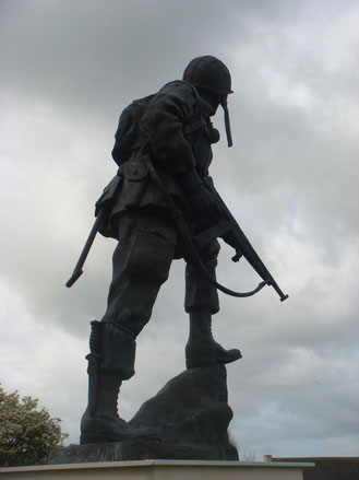 Iron Mike at La Fière, Normandy