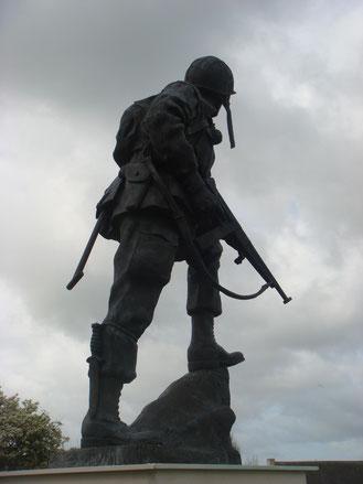 Iron Mike at La Fière, Normandy