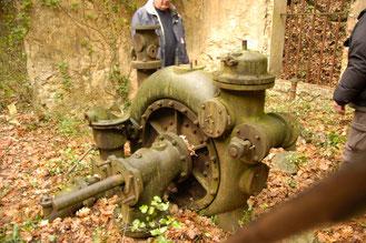 les restes de la turbine