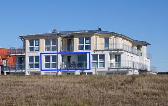 Lage der Ferienwohnung Nr. 13 Residenz Windjammer