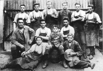 Flehinger Handwerksburschen 1928