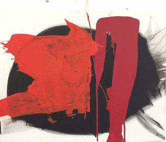 Bild: Powerful: 80 x 100 x 2 cm, auf Leinwand, Acryl (in Privatbesitz)