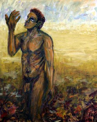 Kain, 80 cm x 100 cm, Gouache auf Baumwolle, 2004