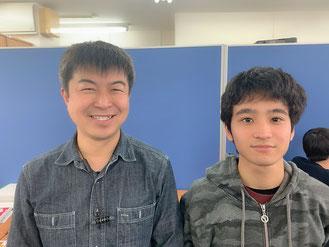 横浜校 前田先生(左)&じゅんちゃん(右)