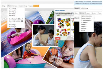 Freeonlinephotoeditor is composed of few website with the same UI