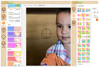 Photocat is a simple and very nice free photo editing suite