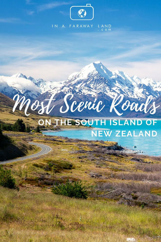 10 most scenic roads on the South Island of New Zealand