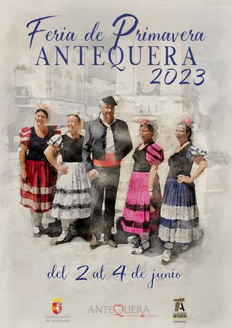 Cartel y programa de la Feria de Primavera de Antequera 2015