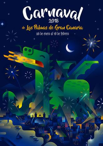 Cartel y Programa del Carnaval de Las Palmas de Gran Canaria
