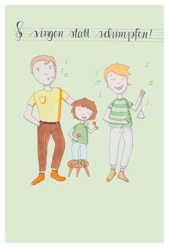 Singen statt schimpfen -   Familiäre Selbstregulation für die Tonhöhen und -tiefen des Familienlebens, ein Kurs für Eltern