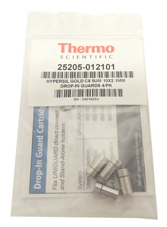 Lot 4 NEW Thermo Hypersil Dionex Gold C8 Guard Cartridge 10X2.1mm 25205-012101 für die Chromatographie/ Chemie