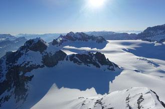 Gross Schärhorn, Skitour, Klausenpass, Chammlialp, Griessgletscher, Chammlilücke, Nordflanke, Gipfelgrat, Chammliberg